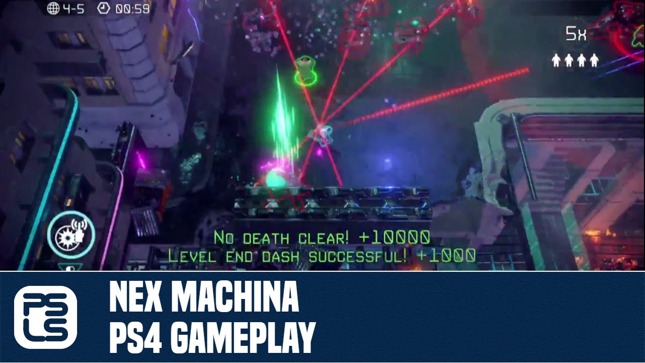 nex machina ps4 gameplay youtube