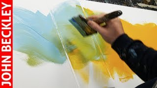 Abstract Painting demonstration in Acrylics with modelling paste | Ocellus