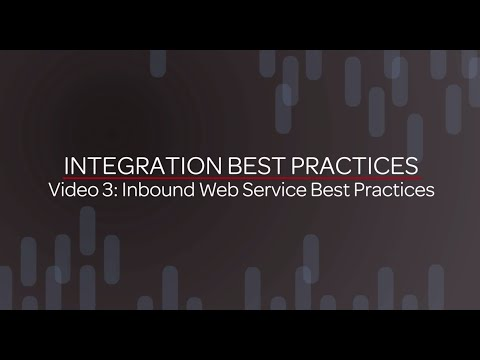 Integration Best Practices - Inbound Web...