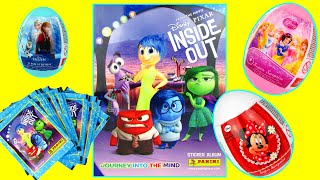 DISNEY INSIDE OUT 2 MOVIE Panini Sticker Album Collectible TOYS Video Review Kinder Surprise