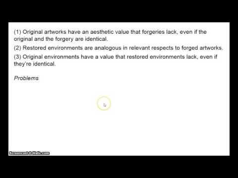 Environmental Ethics - Nature Restoration