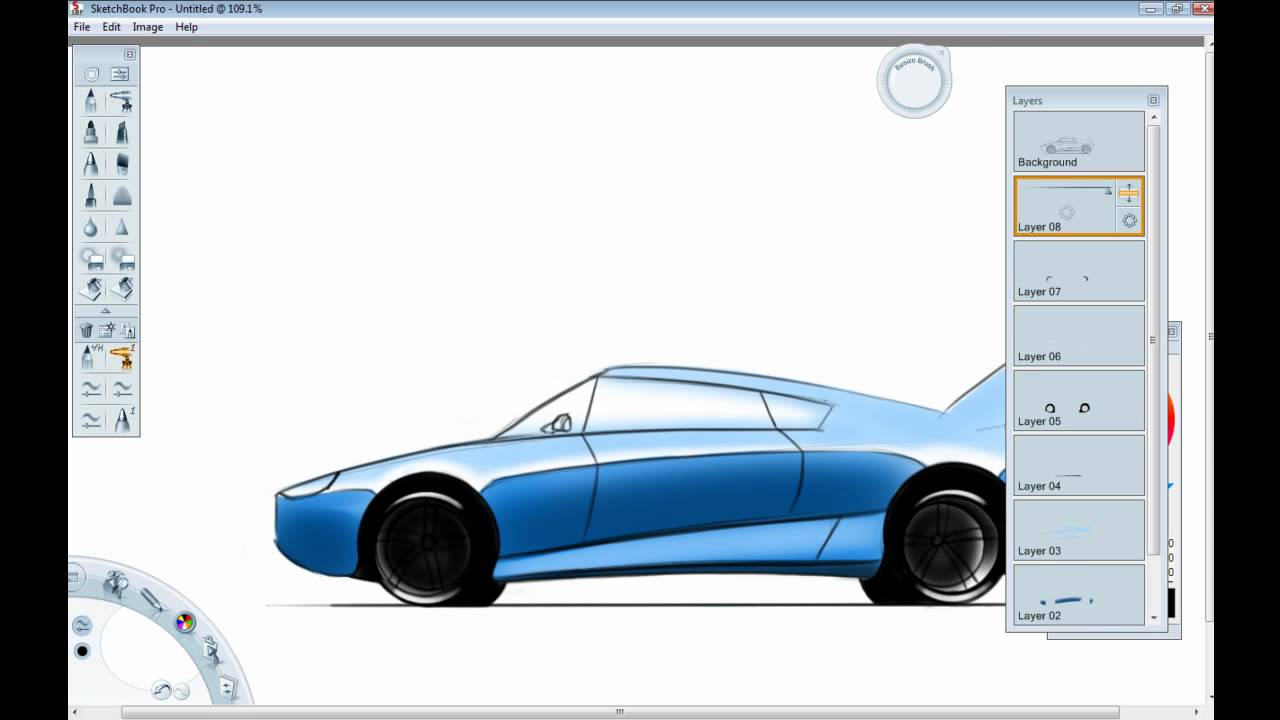 Car Design Tutorial How To Draw A Car In Side View Youtube