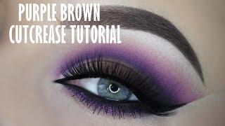 Purple and brown smokey cutcrease