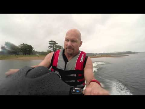 Steve Austin rides the Kawasaki Ultra 310 LX on Lake Hartwell, GA