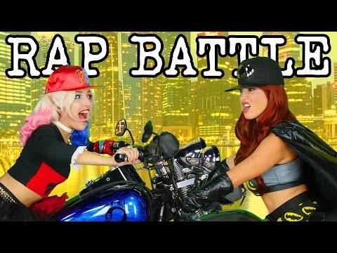 Harley Quinn vs Batgirl Princess Rap Battle DC Girls. Family Friendly from DisneyToysFan