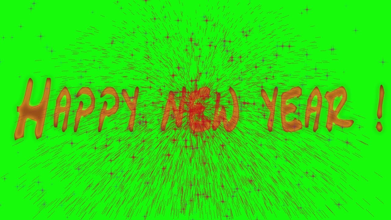 happy new year green screen black screen effect