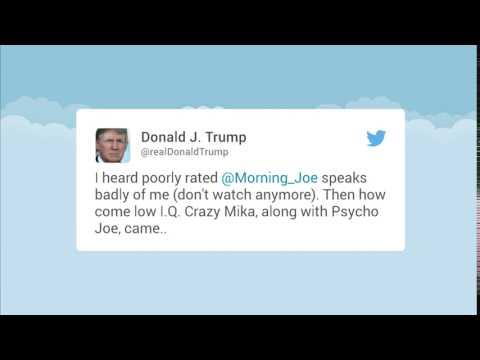 Morning Joe host attacked by President Trump on Twitter