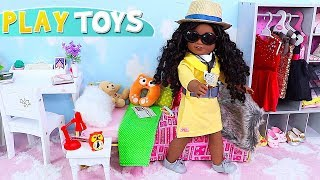 Baby Doll Yellow Dress in Dollhouse Special Agent Toys!