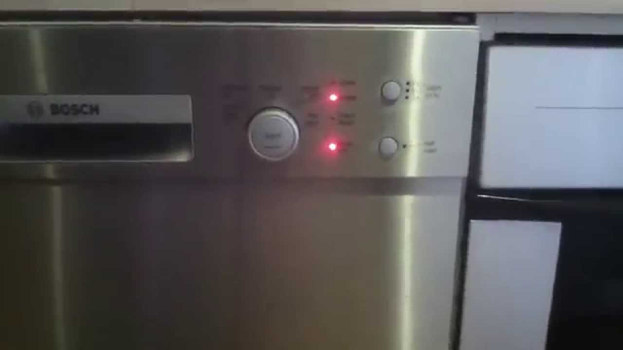 Bosch Dishwasher SMU50E55AU Stuck on Rinsing - YouTube