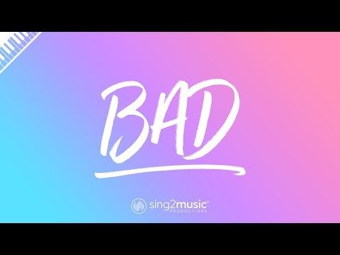 Bad (Piano Karaoke Instrumental) James Bay
