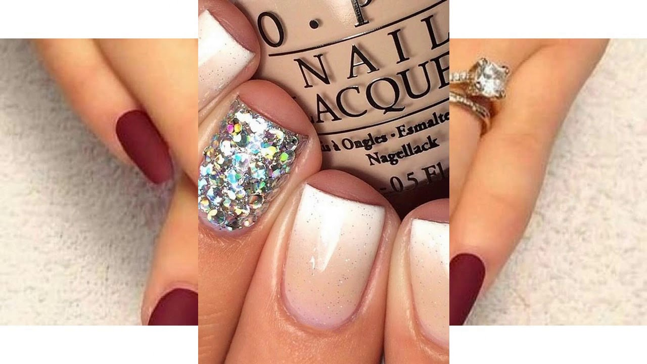 Tendencia De Las Uñas Decoradas Con Gelish Y Piedras Youtube
