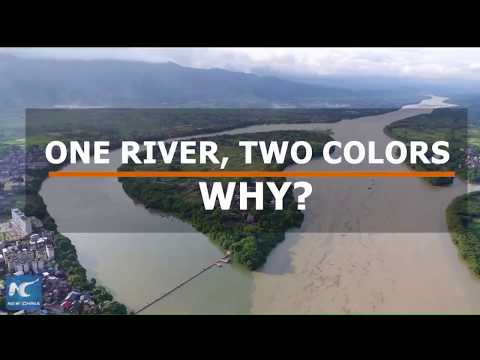 Rainfall brings two colors to river