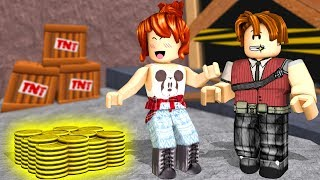 WE GET RICH IN THE GOLD MINES!! CRIS MINEGIRL ft (Roblox Gold Venture)
