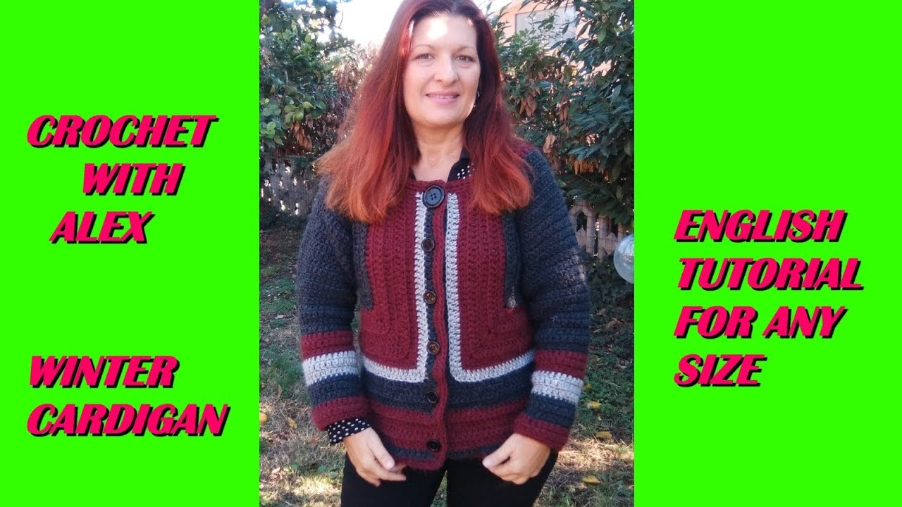 3a7ae70ca CROCHET CARDIGAN from the armhole ANY SIZE tutorial - YouTube