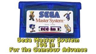 Sega Master System 106 in 1 for the GBA