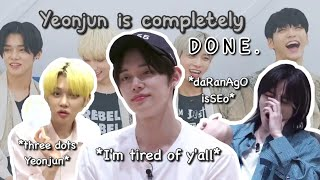 [TXT] Yeonjun being done with everything