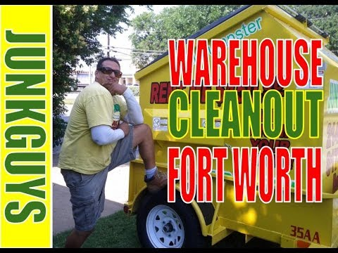 How to deliver a rental dumpster to Rowlett Texas & Warehouse junk removal / dfwjunkguys.com