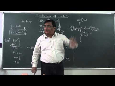 XI-4.4,Vector resolution (2014) Pradeep Kshetrapal Physics