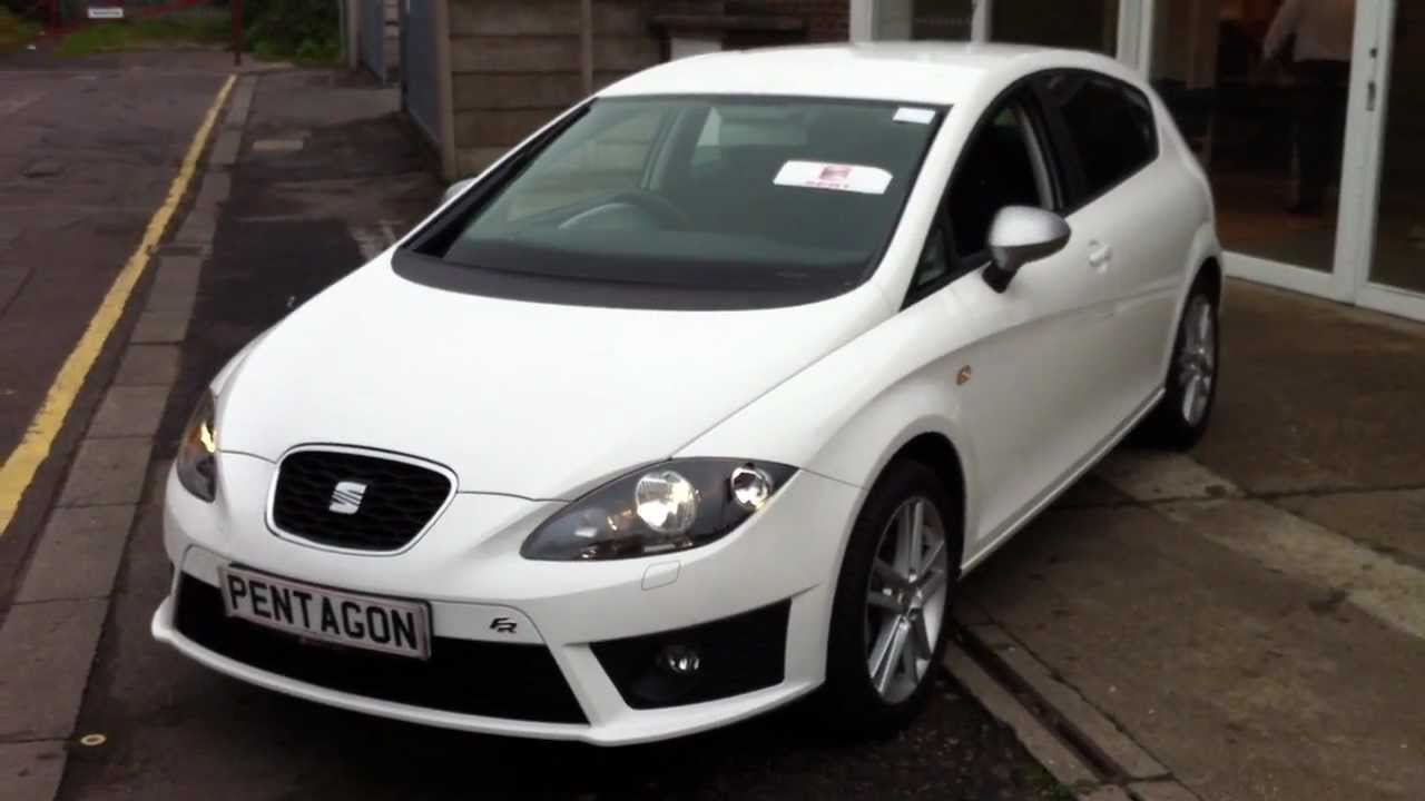 2011 61 plate seat leon 2 0 tdi cr 140 dsg fr 5dr white youtube. Black Bedroom Furniture Sets. Home Design Ideas