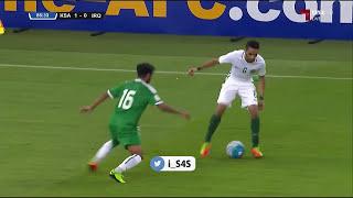 بالفيديو.. الجمهور السعودي يتفاعل والمعلق يردد أهازيج سعودية