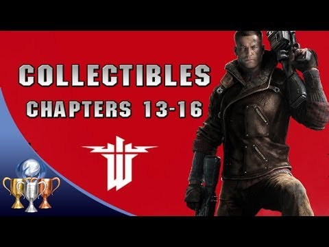 Wolfenstein The New Order Collectibles Walkthrough [Chapters 13-16] (Gold, Enigma Codes & Letters)