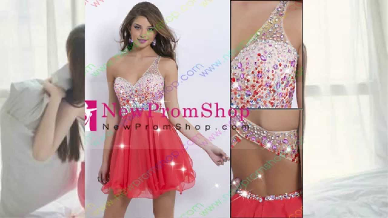 Champagne Lace Short Prom Dresses & Homecoming Dresses - YouTube