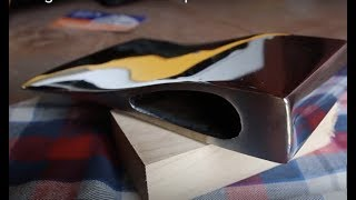 Repairing broken axe and polish with Orbital Sander