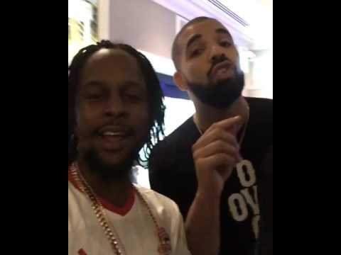 Popcaan & Drake Free styling after Ovo fest|Aug 2016