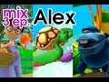 Alex cartoon, 11 min. educational videos: orange, turtle and gorilla