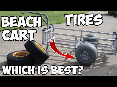 You MUST Put These TIRES On Your BEACH CART! Beach Cart Tire Comparison (Wheeleez)