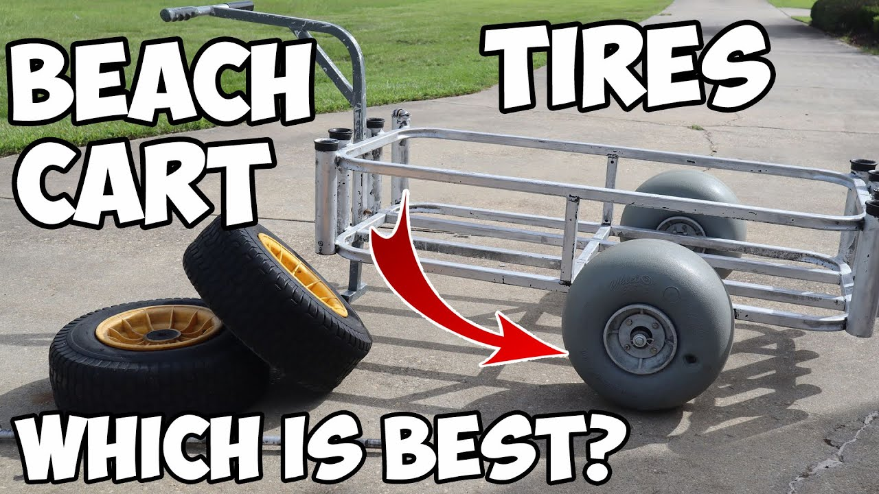 You MUST Put These TIRES On Your BEACH CART! Beach Cart Tire