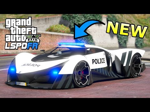 GTA 5 Mods - NEW Proto X80 POLICE Car!! (LSPDFR Gameplay)