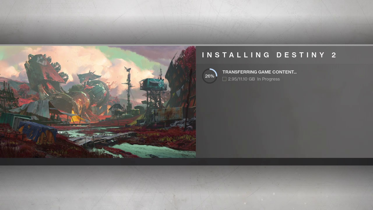 Destiny 2 Beta - Installing Destiny 2 Screen (Complete Slideshow)
