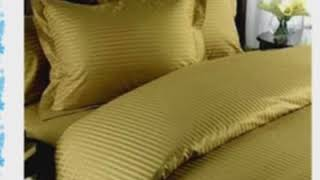1000 Thread Count Egyptian Cotton 4pc 1000TC Bed Sheet Set King Brown Damask Stripe 1000 TC