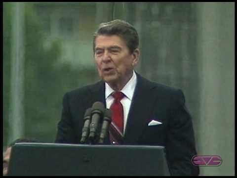 President Ronald Reagan Tear Down This Wall Speech At Berlin Wall