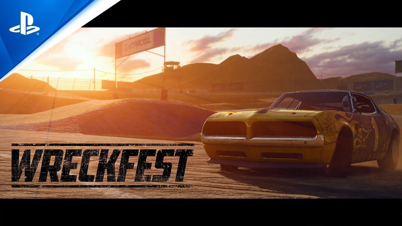Wreckfest PS5 features trailer