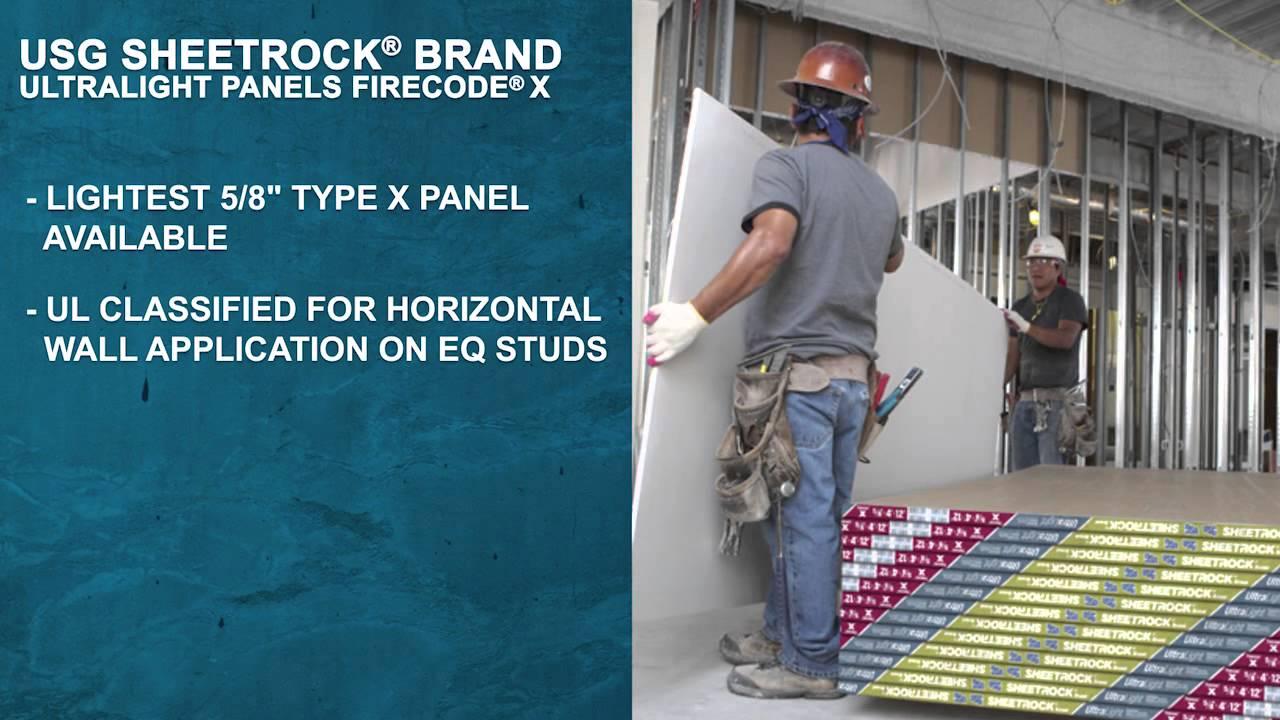 The Benefits of USG Sheetrock® Brand UltraLight Panels Firecode® X