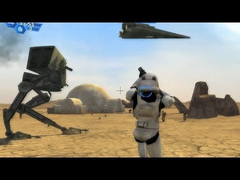 star wars battlefront 1 gameplay tatooine dune sea galactic civil war mission 1 youtube. Black Bedroom Furniture Sets. Home Design Ideas
