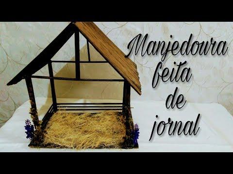Diy - Manjedoura Feita De Jornal