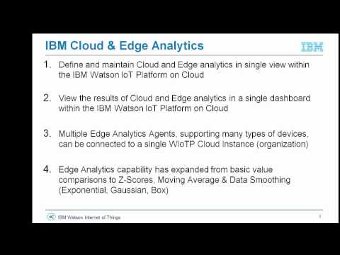 An Introduction to IBM Watson IoT Edge Analytics