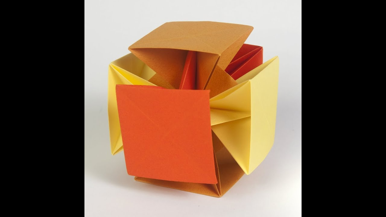 how to make an origami cube out of paper