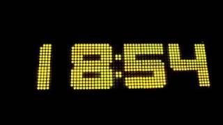 64x16 Big LED Matrix Clock / Temperature