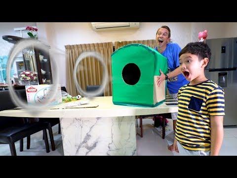 DIY เครื่องยิงควัน Smoke Ring กล่องกระดาษ