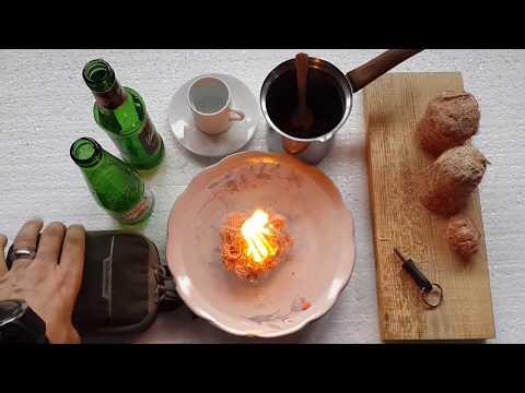 Su üstünde Ateş Ve O Ateşte Türk Kahvesi :) Fire On Water ! 1080p Video