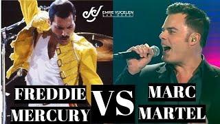 Freddie Mercury VS A Great Impression By Marc Martel Analisis Suara