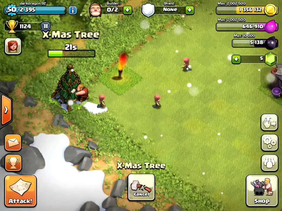 how to get an xmas tree in clash of clans 2013