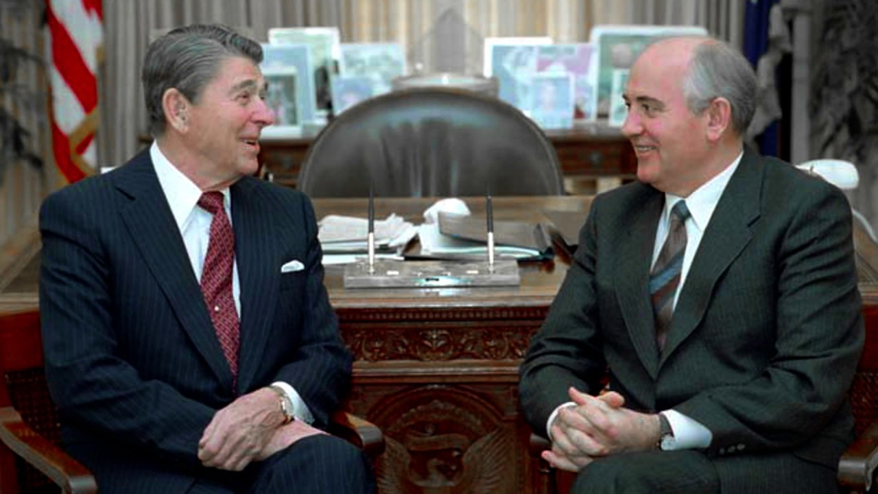 Image result for gorbachev reagan