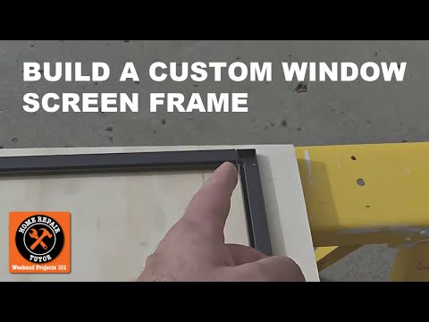 Custom Window Screens: How to Build the Screen Frame -- by Home Repair Tutor