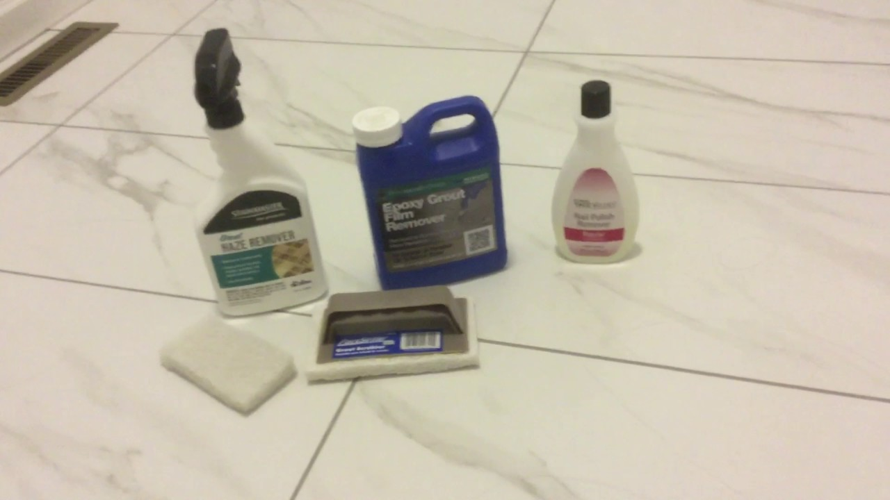 Epoxy Grout Haze Removal Solution