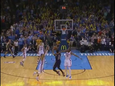 Anthony Davis buzzer-beater game-winner double-clutch three-pointer: Pelicans at Thunder